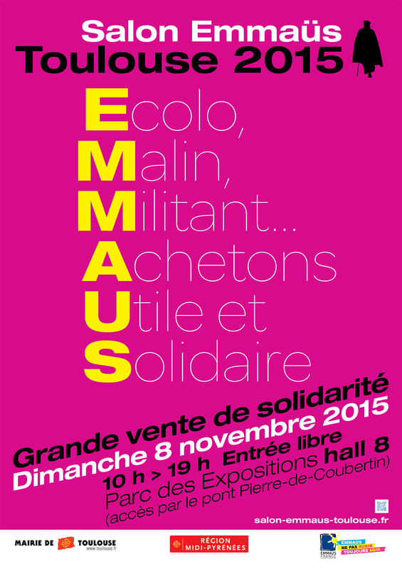 Association emma s agir toulouse 31 r insertion et for Salon emmaus paris 2017
